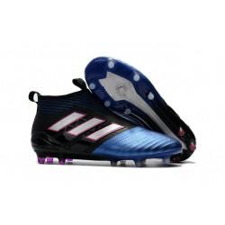 Calzado De Fútbol Ace 17+ Purecontrol Terreno Firm Negro Blanco Azul