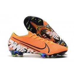 Zapatos de Fútbol Nike Mercurial Vapor 13 Elite FG Naranja Blanco