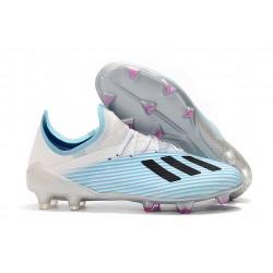 Botas de Fútbol Adidas X 19.1 FG Blanco Azul Negro