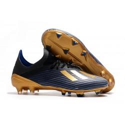 Botas de Fútbol Adidas X 19.1 FG Negro Azul Oro