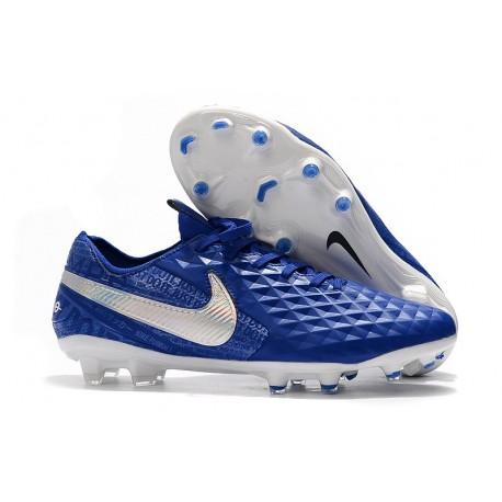 Botas de Fútbol Nike Tiempo Legend 8 Elite FG Azul Blanco