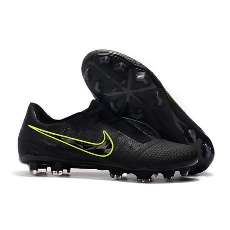 Nike Zapatillas de Futbol Phantom Venom Elite FG Negro Amarillo Fluorescente