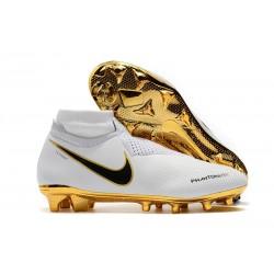 Zapatillas de fútbol Nike Phantom VSN Elite DF FG Oro Blanco