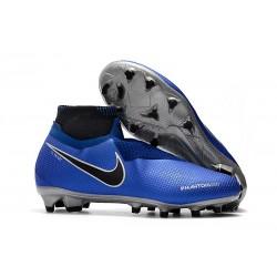 Botas de fútbol para Hombre Nike Phantom Vision Elite DF FG Azul Negro Plateado Volt