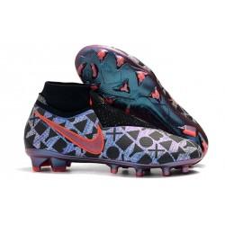 Zapatillas de fútbol Nike Phantom VSN Elite DF FG Azul Negro Rojo