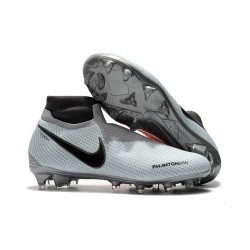 Zapatillas de fútbol Nike Phantom VSN Elite DF FG Gris Rojo