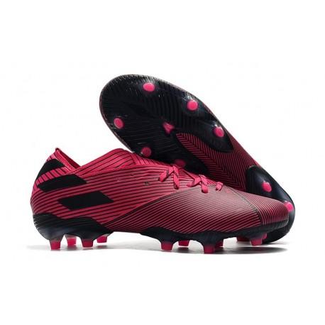 Zapatillas Futbol Tacos adidas Nemeziz 19.1 FG - Rosa Negro