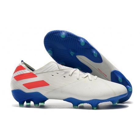 Zapatillas Futbol Tacos adidas Nemeziz 19.1 FG - Blanco Rojo Azul