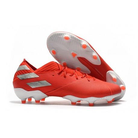 Zapatillas Futbol Tacos adidas Nemeziz 19.1 FG - Rojo Plata