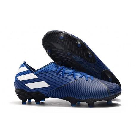 Zapatillas Futbol Tacos adidas Nemeziz 19.1 FG - Azul Blanco