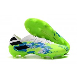 Zapatillas Futbol Tacos adidas Nemeziz 19.1 FG - Blanco Verde Azul