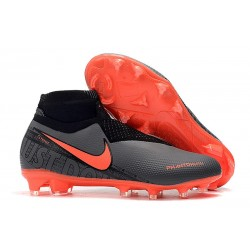 Nike Phantom VSN Elite DF FG Botas de Fútbol - Negro Rojo