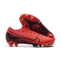 Zapatos de Fútbol Nike Mercurial Vapor 13 Elite FG Rojo Negro