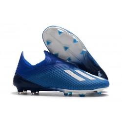 Botas de fútbol Nuevo Adidas X 19+ FG Azul Blanco