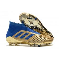 adidas Zapatillas de Futbol Predator 19+ FG Oro Azul