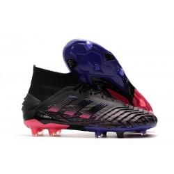 adidas Zapatillas de Futbol Predator 19+ FG Negro Rosa Azul