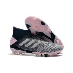 adidas Zapatillas de Futbol Predator 19+ FG Negro Gris Plata