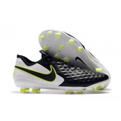 Botas de Fútbol Nike Tiempo Legend 8 Elite FG Negro Blanco Voltio