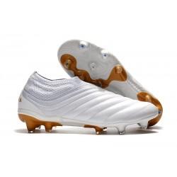 Zapatillas de fútbol Adidas Copa 19+ FG Blanco Oro