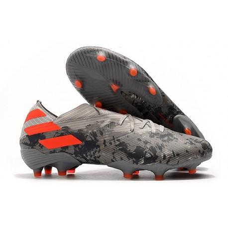 Zapatillas Futbol Tacos adidas Nemeziz 19.1 FG -Gris Naranja Chalk