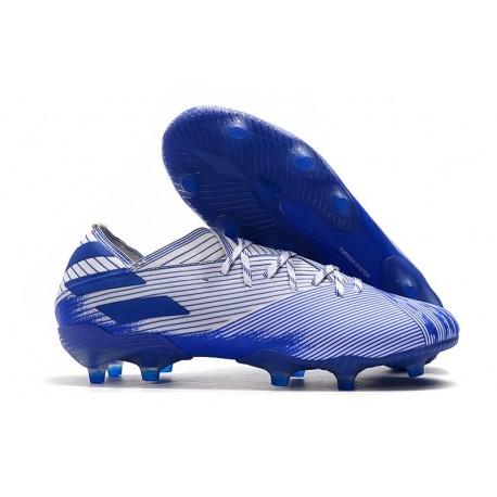 Zapatillas Futbol Tacos adidas Nemeziz 19.1 FG - Blanco Azul