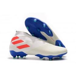 Zapatos de Fútbol adidas Nemeziz 19+ FG - Blanco Naranja