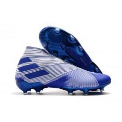 Zapatos de Fútbol adidas Nemeziz 19+ FG - Blanco Azul