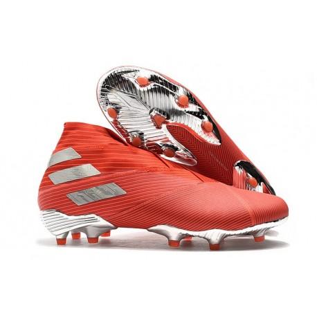 Zapatos de Fútbol adidas Nemeziz 19+ FG - Rojo Plata