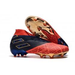 Zapatos de Fútbol adidas Nemeziz 19+ FG - Spider-Man Rojo Negro