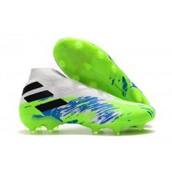 Zapatos de Fútbol adidas Nemeziz 19+ FG - Blanco Verde Negro