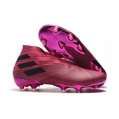 Zapatos de Fútbol adidas Nemeziz 19+ FG - Rosa Negro