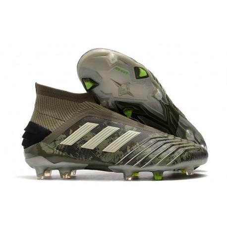 adidas Zapatillas de Futbol Predator 19+ FG Verde Arena Amarillo