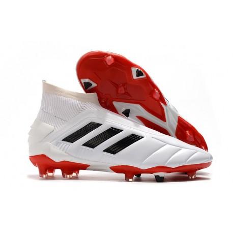 Zapatillas de Futbol adidas Predator Mania 19+FG ADV Blanco Rojo Negro