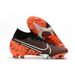 Zapatillas Nike Mercurial Superfly VII Elite SE FG Negro Blanco Hyper Crimson