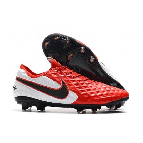 Botas de Fútbol Nike Tiempo Legend 8 Elite FG Rojo Blanco Negro