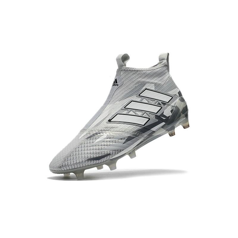 diseño innovador 6872c 75929 2018 Bota De Fútbol Ace 17+ Purecontrol FG Gris Blanco Negro