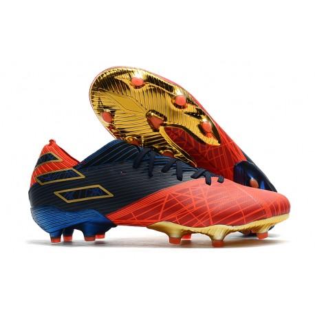Zapatillas Futbol Tacos adidas Nemeziz 19.1 FG -X Marvel Rojo Azul Negro