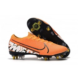 Nike Mercurial Vapor 13 Elite SG-PRO Anti-Clog Traction Naranja Blanco