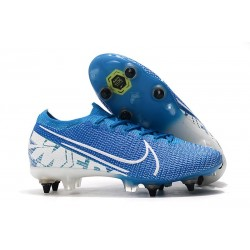Nike Mercurial Vapor 13 Elite SG-PRO Anti-Clog Traction Azul Blanco