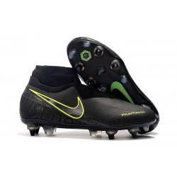 Nike Phantom Vision Elite DF SG-Pro AC Negro Amarillo Fluorescente