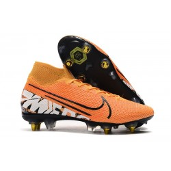 Nike Mercurial Superfly 7 Elite SG-PRO Anti-Clog Naranja Blanco