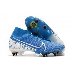 Nike Mercurial Superfly 7 Elite SG-PRO Anti-Clog New Lights Azul Blanco