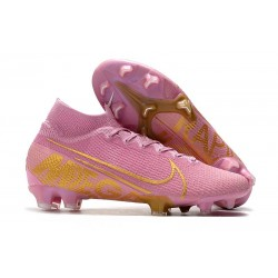 Zapatillas Nike Mercurial Superfly VII Elite SE FG Rosa Oro