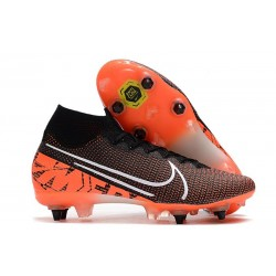 Nike Mercurial Superfly 7 Elite SG-PRO Anti-Clog Negro Blanco Crimson