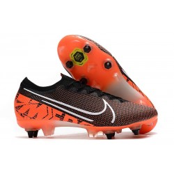 Nike Mercurial Vapor 13 Elite SG-PRO Anti-Clog Traction Negro Blanco Hyper Crimson