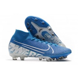Nike Mercurial-Superfly VII Elite AG-PRO New Lights Azul Blanco