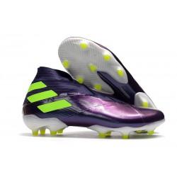 adidas Tacos de Futbol Nemeziz 19+ FG -Violeta Verde