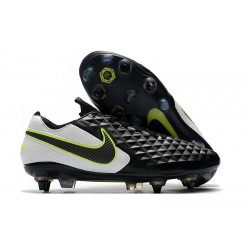 Nike Tiempo Legend 8 Elite SG-PRO Anti-Clog Traction Negro Blanco Voltio