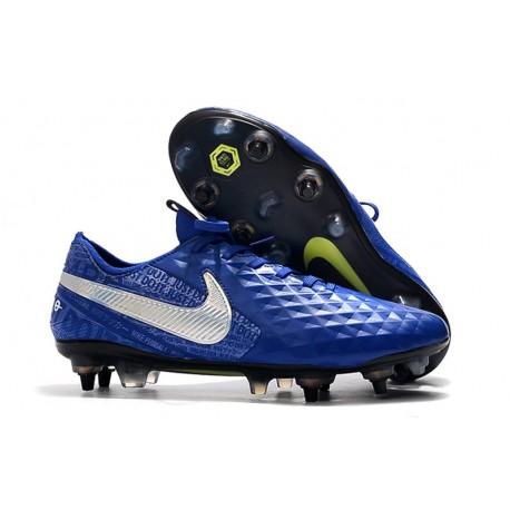 Nike Tiempo Legend 8 Elite SG-PRO Anti-Clog Traction Azul Plata