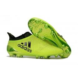 Nuevo Zapatillas de fútbol Adidas X 17+ Purespeed FG Verde Negro
